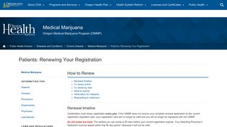 Oregon Health Authority : Patients: Renewing Your Registration ...