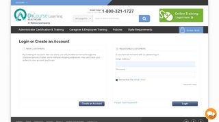 Customer Login | OnCourse Learning Healthcare