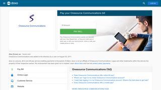 Onesource Communications: Login, Bill Pay, Customer Service and ...