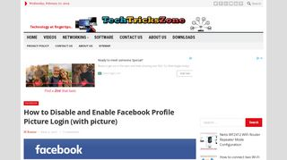 Facebook profile picture login enable and disable with simple steps ...