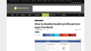 How to disable / enable profile picture login Facebook - UG TECH MAG