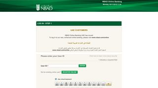 LOG IN - National Bank of Abu Dhabi - Corporate Online Banking