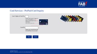 Prepaid Cards Enquiry System