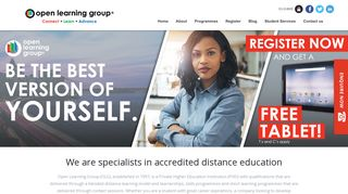 Open Learning Group: Distance Learning Programmes