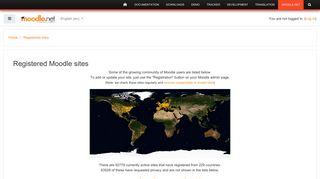Moodle.net: Registered sites