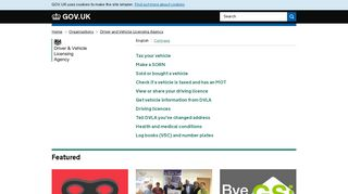 Driver and Vehicle Licensing Agency - GOV.UK