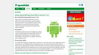 Android » OpenFeint.com