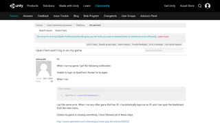 Open Feint won't log in on my game - Unity Forum