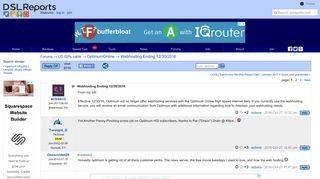 Webhosting Ending 12/30/2016 - OptimumOnline   DSLReports Forums