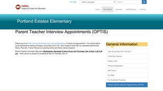 Parent Teacher Interview Appointments (OPTIS)   Portland Estates ...