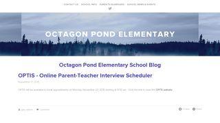 OPTIS - Online Parent-Teacher Interview Scheduler — Octagon Pond ...