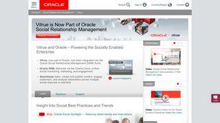 Vitrue – Now Part of Oracle Social Relationship Management (SRM ...