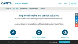 Employee benefits and pension solutions - Capita Employee Benefits