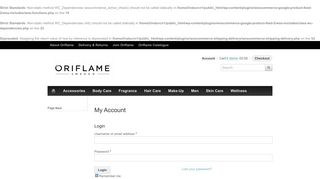 My Account | Oriflame Shop - Buy Online