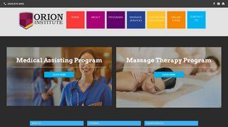 Orion Institute: Medical Assistant, Massage Training | Perrysburg ...