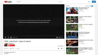 ORNN - Login Screen - League of Legends - YouTube