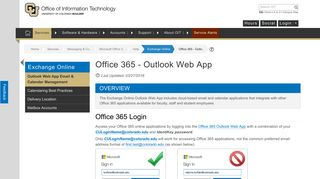 Office 365 - Outlook Web App | Office of Information Technology