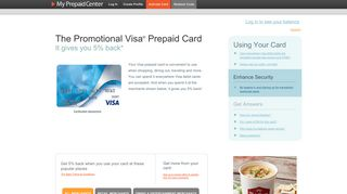 The Promotional Visa ® Prepaid Card - MyPrepaidCenter.com