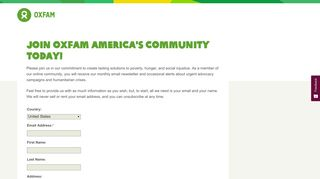 Sign up | Oxfam America