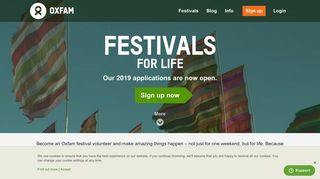 Sign up to volunteer at a festival | Oxfam GB