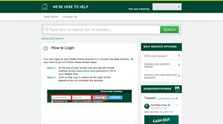 How to Login - Paddy Power