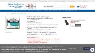 Ultra Contact Temperature Data Loggers - Paksense Temperature ...