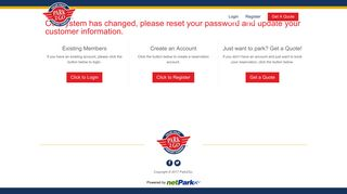 Our system has changed, please reset your password and update ...