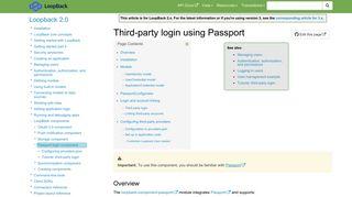 Third-party login using Passport | LoopBack Documentation