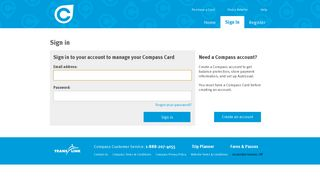 Compass - Sign In - Compass Card