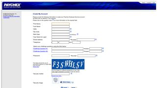 Paychex Employee Services NEW User Creation