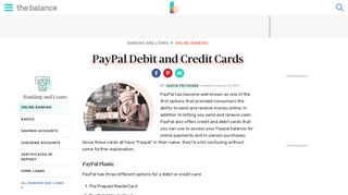 PayPal Debit and Credit Card Primer - The Balance
