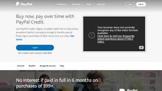PayPal Credit   Line of Credit   PayPal US