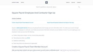 Square Payroll Employee And Contractor Sign Up   Square Support ...