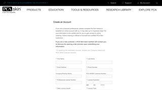 Create New Customer Account - PCA Skin professionals