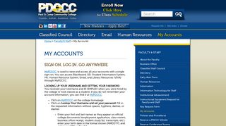 My Accounts | Paul D. Camp Community College