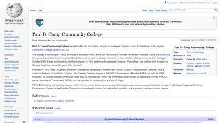 Paul D. Camp Community College - Wikipedia