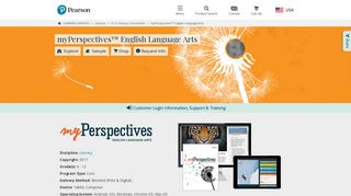 myPerspectives Literacy Program | Pearson Middle and High School ...