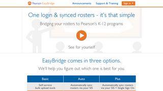 Pearson EasyBridge | Bridging your rosters to Pearson's K-12 programs