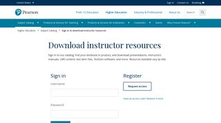 Sign in to download instructor resources | Pearson