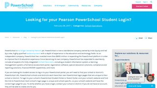 Are you looking for your Pearson PowerSchool student login?