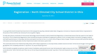 North Olmsted City School District innovates annual ... - PowerSchool