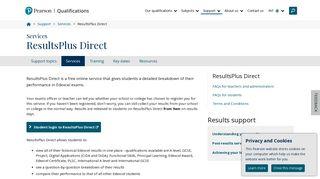 ResultsPlus Direct | Pearson qualifications