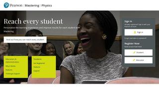 Mastering Physics | Pearson