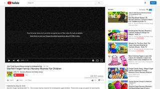 Starfish Finger Family   Nursery Rhymes For Children - YouTube