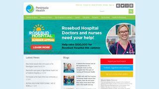 Peninsula Health   public healthcare for the Mornington Peninsula