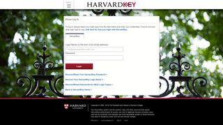 HarvardKey Login