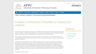 PEPC - Association of Faculties of Pharmacy of Canada