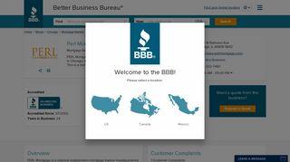 Perl Mortgage, Inc. | Better Business Bureau® Profile