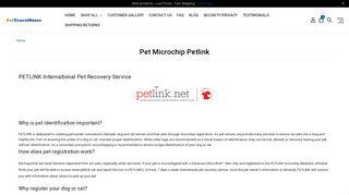 Register Your Dog or Cat - PetLink MIcrochip Registration