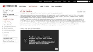 Order Online   PERFORMANCE Foodservice
